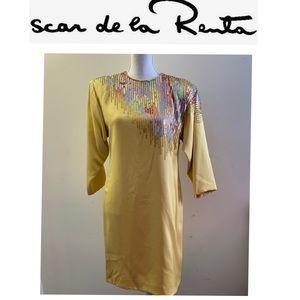 Oscar dela Renta sequined Dress